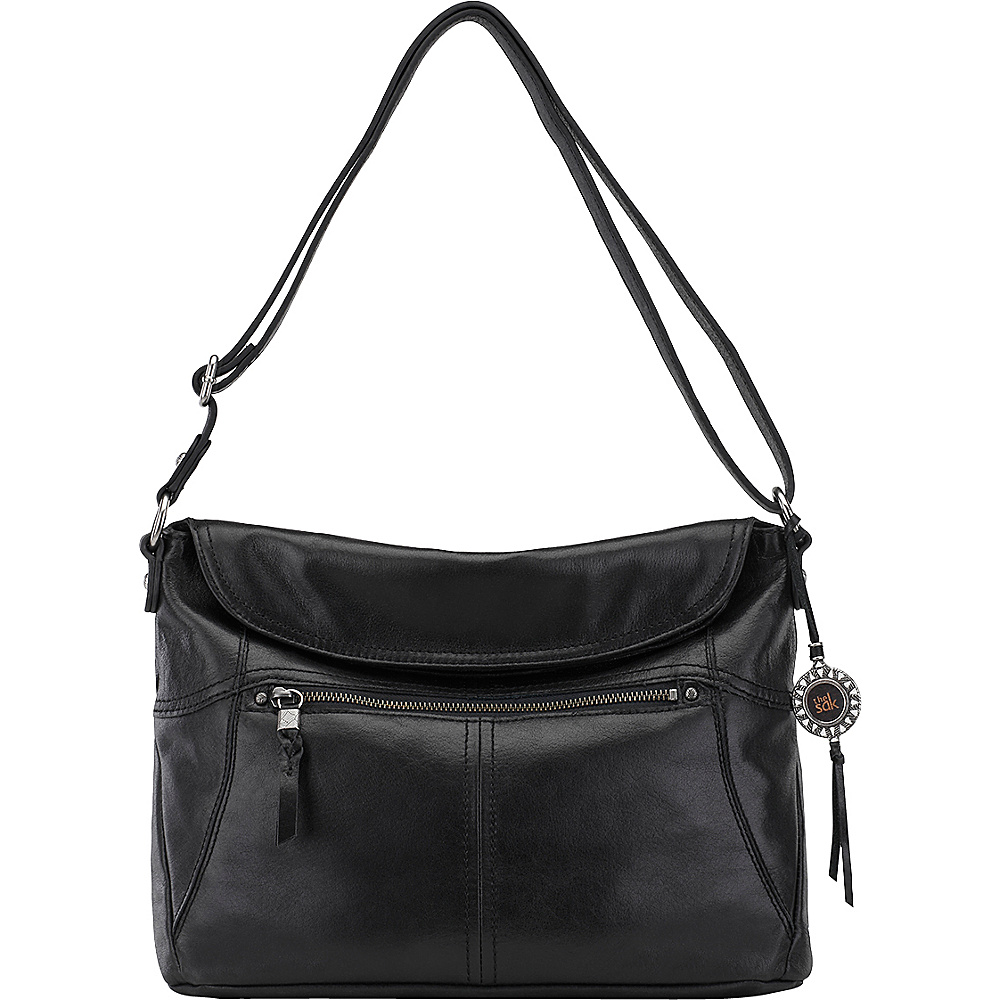The Sak Esperato Flap Hobo Black The Sak Leather Handbags