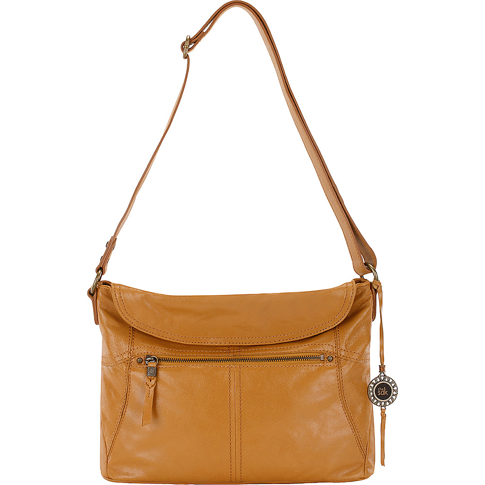 The Sak Esperato Flap Hobo Ochre The Sak Leather Handbags