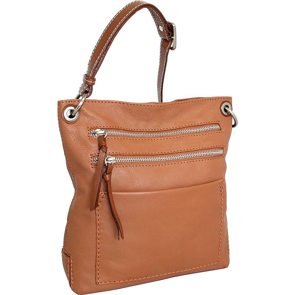 Nino Bossi Just Delightful Crossbody Cognac Nino Bossi Leather Handbags