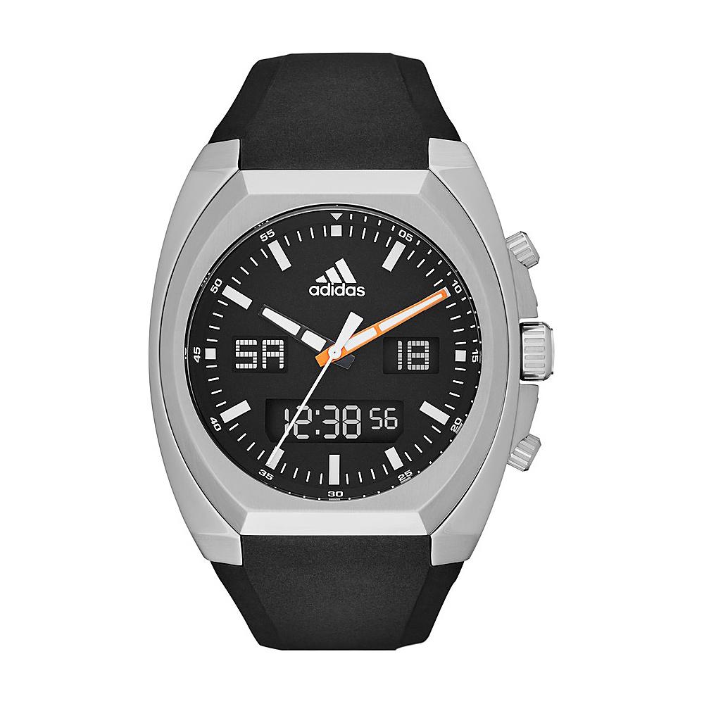 adidas watches Off Field Analog-Digital Silicone Watch Black with Black - adidas watches Watches