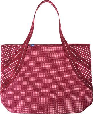 Keds Micro Dot Large Tote Beet Red - Keds Fabric Handbags