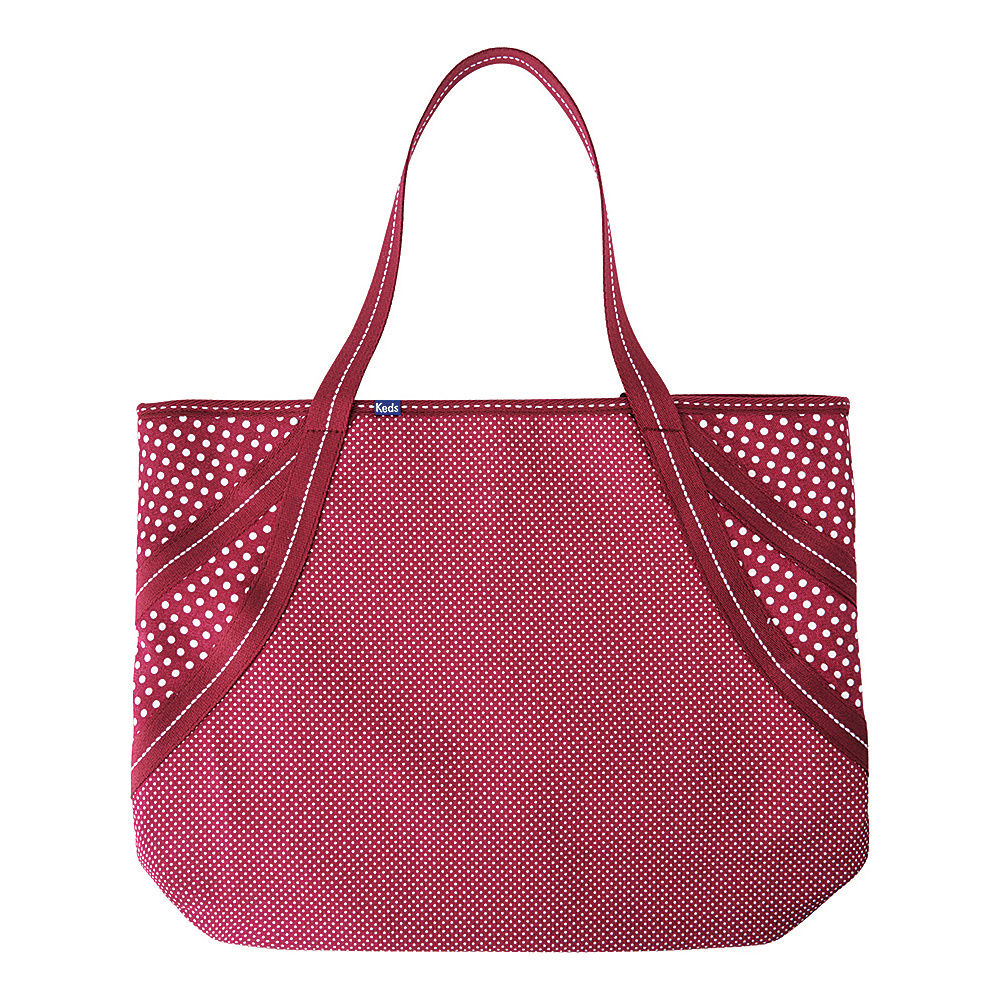 Keds Micro Dot Large Tote Beet Red Keds Fabric Handbags