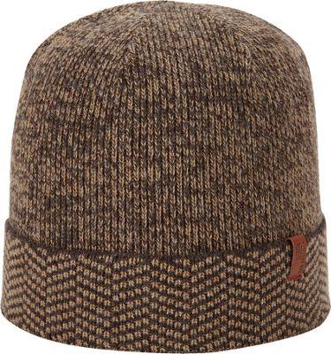 Ben Sherman Chevron Cuff Beanie Coffee - Ben Sherman Hats