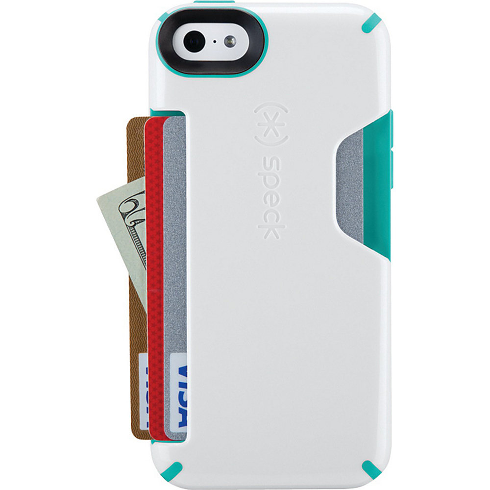 Speck iPhone 5c Candyshell Card Case White Carribean blue Speck Electronic Cases