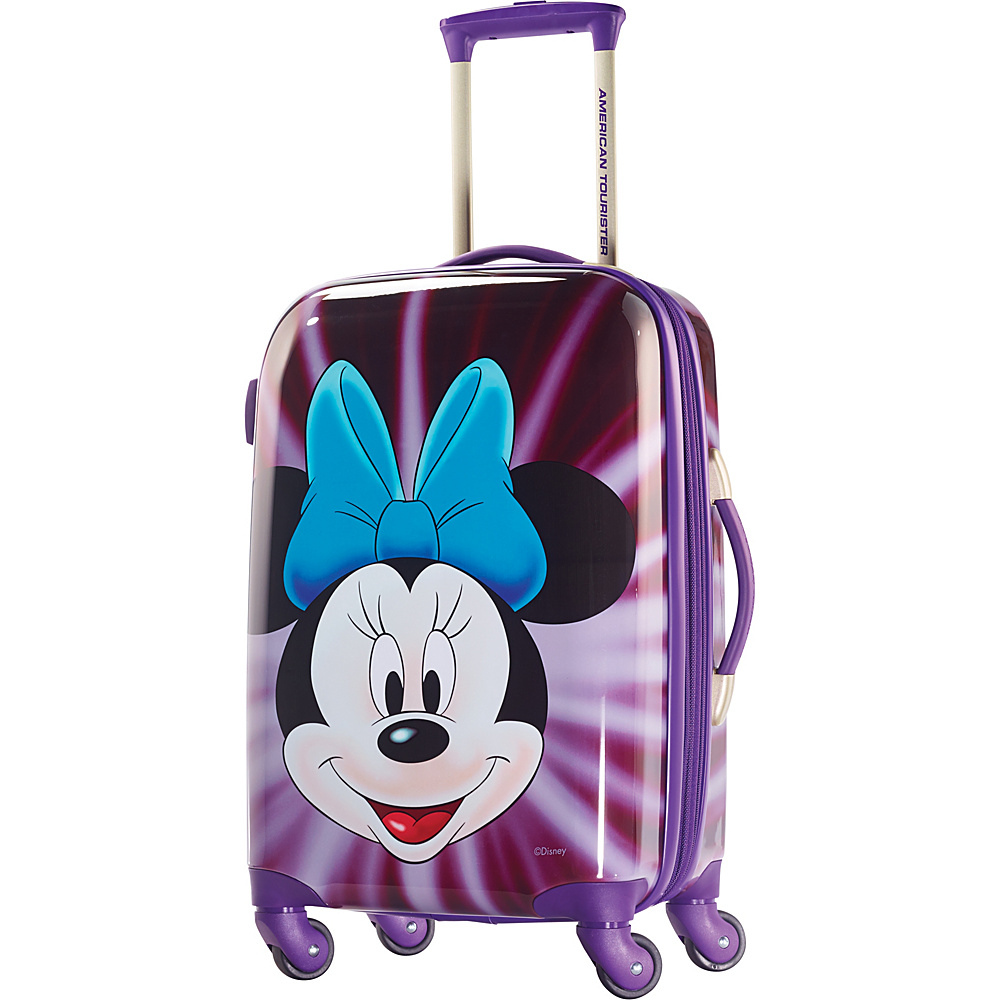 "American Tourister Disney Minnie Mouse Hardside Spinner 21"" Minnie Mouse Face - American Tourister Hardside Carry-On"