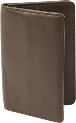 Tanners Avenue Premium Leather Gusset Card Case with ID window Brown - Tanners Avenue Men's Wallets
