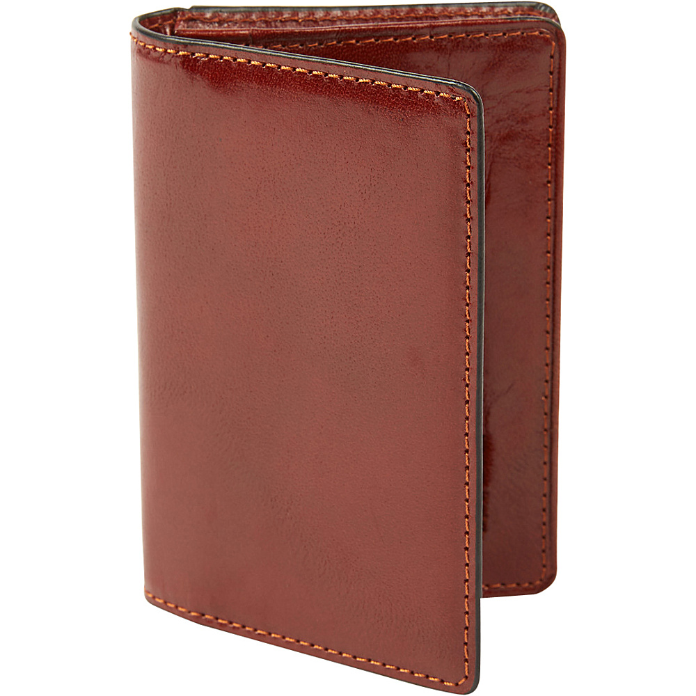 Tanners Avenue Premium Leather Gusset Card Case with ID window Cognac Tanners Avenue Men s Wallets