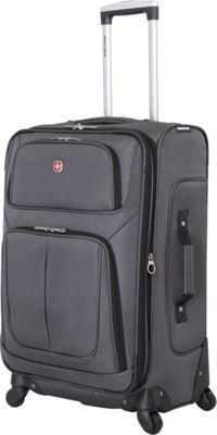 SwissGear Travel Gear 25 inch Spinner Luggage Dark Grey - SwissGear Travel Gear Softside Checked