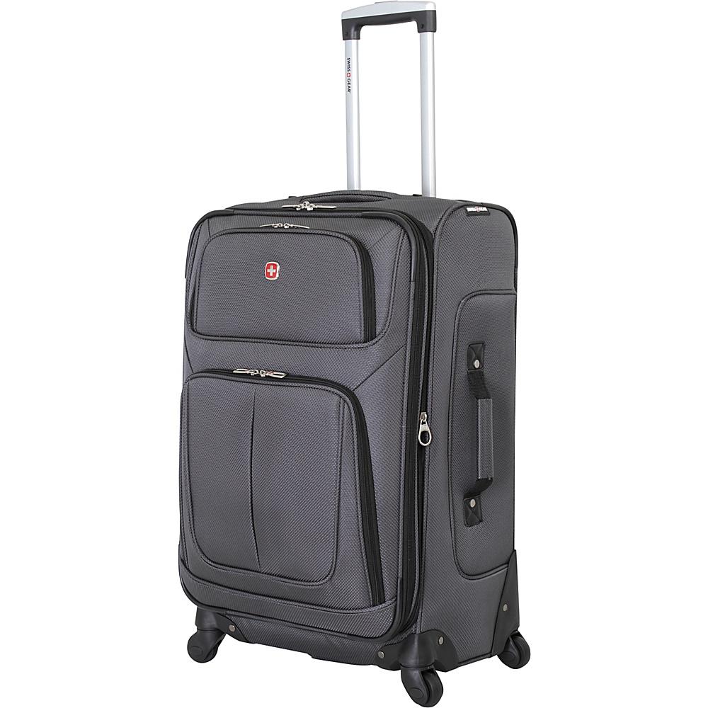 SwissGear Travel Gear 25 Spinner Dark Grey SwissGear Travel Gear Softside Checked