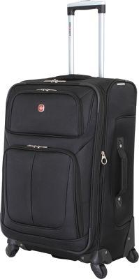 SwissGear Travel Gear 25 inch Spinner Luggage Black - SwissGear Travel Gear Softside Checked
