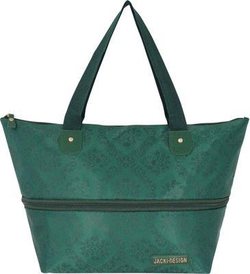 Jacki Design New Essential Expandable Tote Bag Emerald - Jacki Design Fabric Handbags