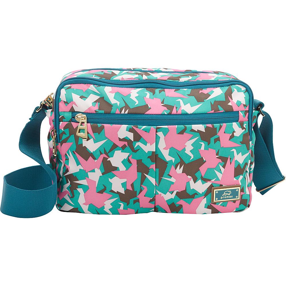 Promax Chi Chi Dual Compartment iPad Shoulder Bag Green Bird - Promax Fabric Handbags