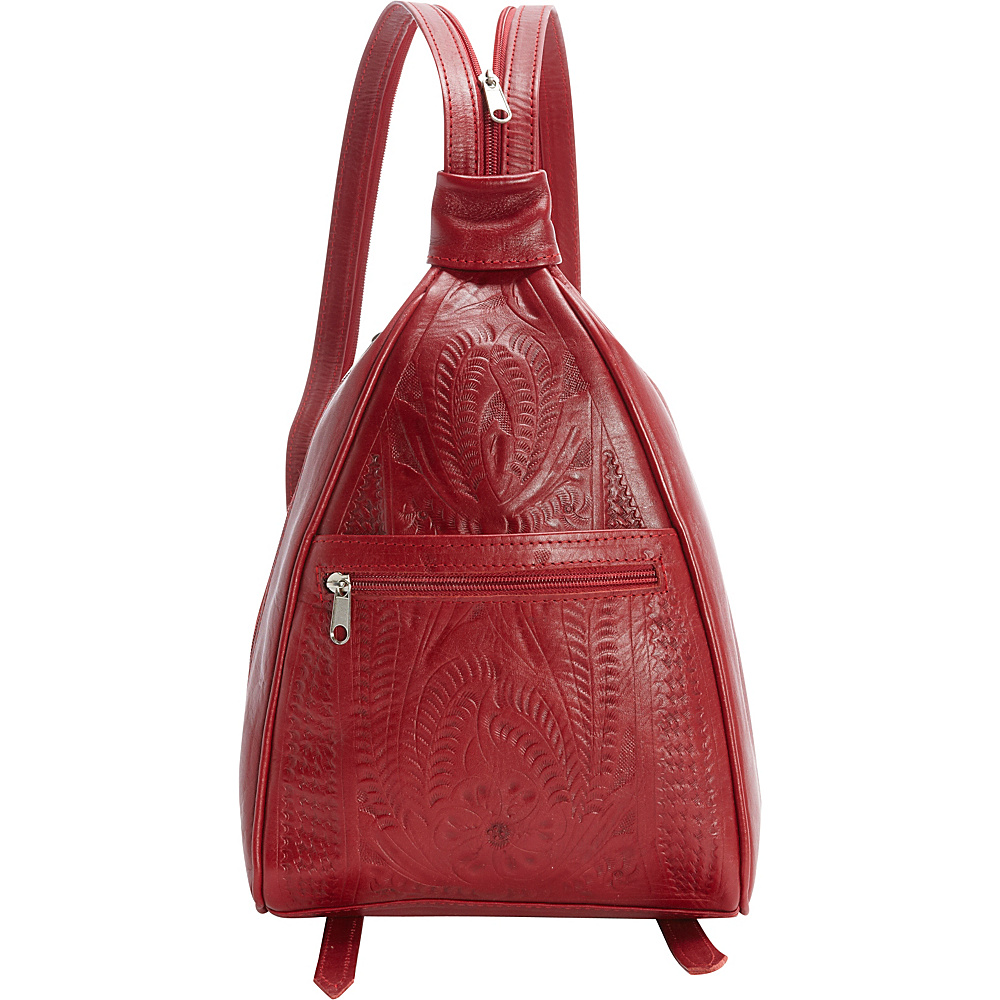 Ropin West Backpack Purse Red - Ropin West Leather Handbags