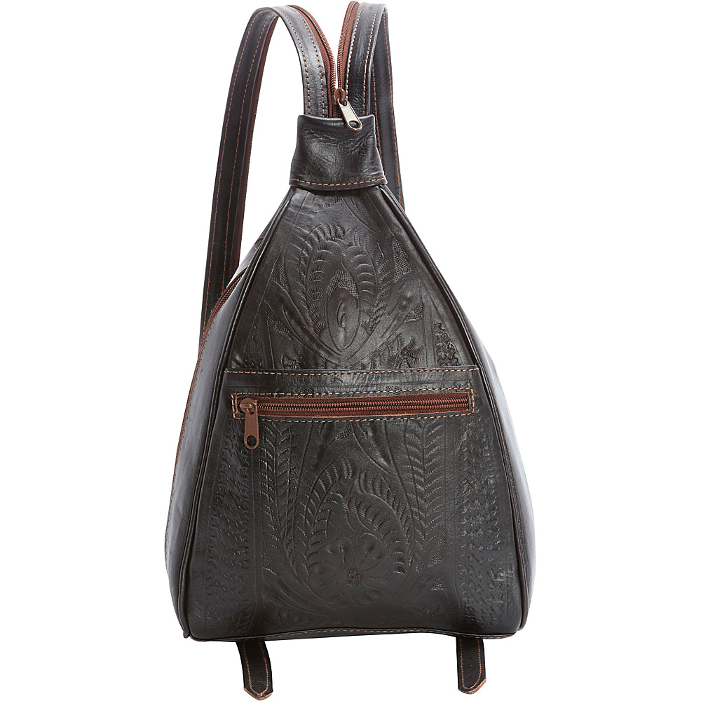 Ropin West Backpack Purse Brown - Ropin West Leather Handbags