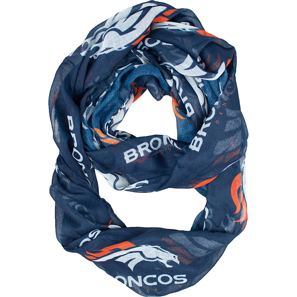 Littlearth Sheer Infinity Scarf Alternate - NFL Teams Denver Broncos - Littlearth Hats/Gloves/Scarves - Fashion Accessories, Hats/Gloves/Scarves
