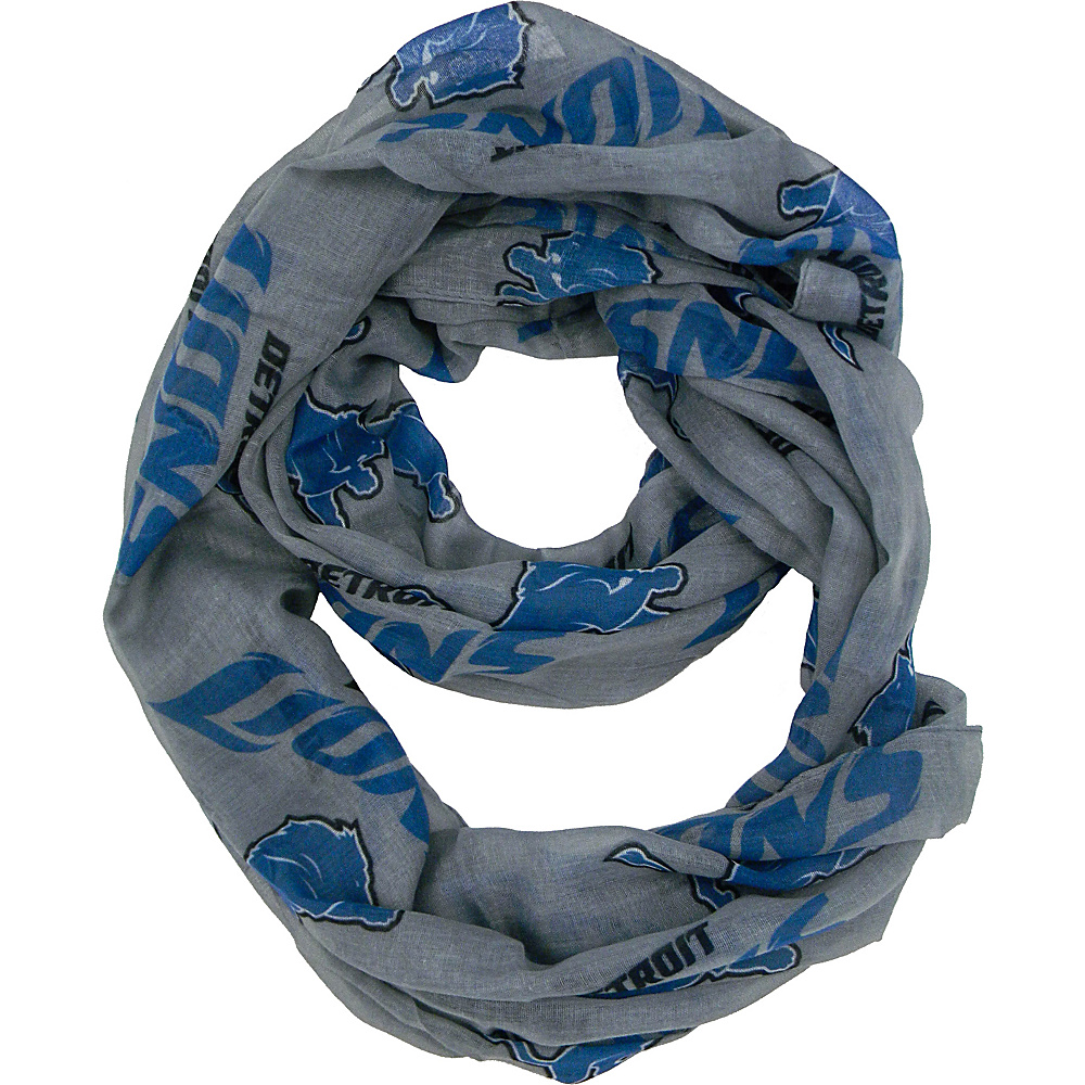 Littlearth Sheer Infinity Scarf Alternate - NFL Teams Detroit Lions - Littlearth Hats/Gloves/Scarves - Fashion Accessories, Hats/Gloves/Scarves