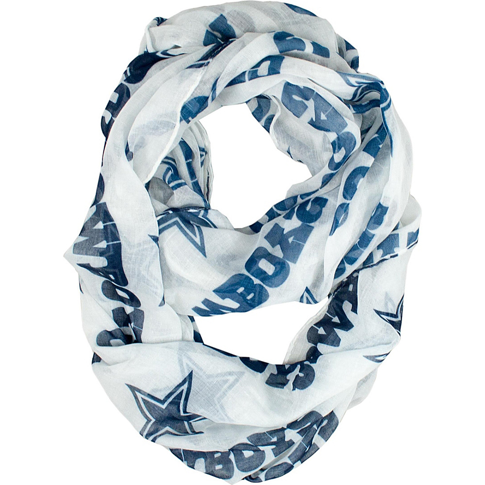 Littlearth Sheer Infinity Scarf Alternate - NFL Teams Dallas Cowboys - Littlearth Hats/Gloves/Scarves - Fashion Accessories, Hats/Gloves/Scarves