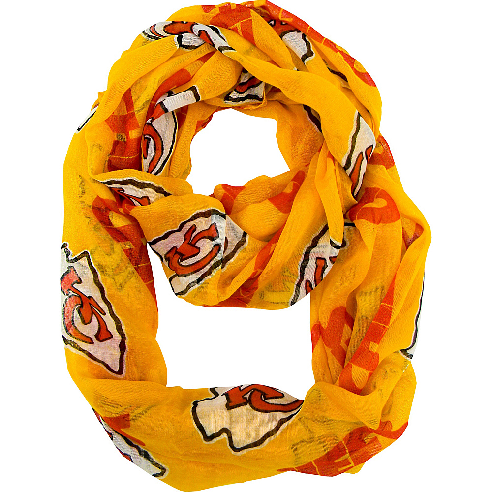Littlearth Sheer Infinity Scarf Alternate - NFL Teams Kansas City Chiefs - Littlearth Hats/Gloves/Scarves - Fashion Accessories, Hats/Gloves/Scarves