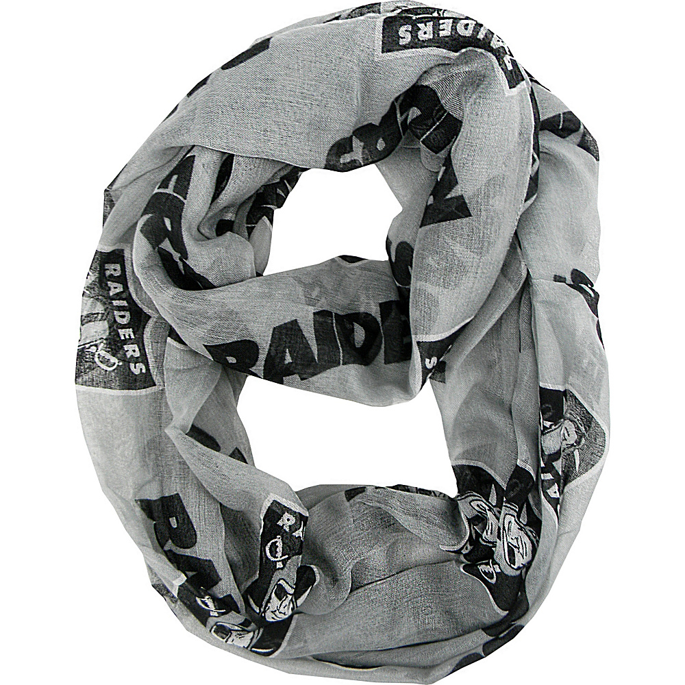 Littlearth Sheer Infinity Scarf Alternate - NFL Teams Oakland Raiders - Littlearth Hats/Gloves/Scarves - Fashion Accessories, Hats/Gloves/Scarves