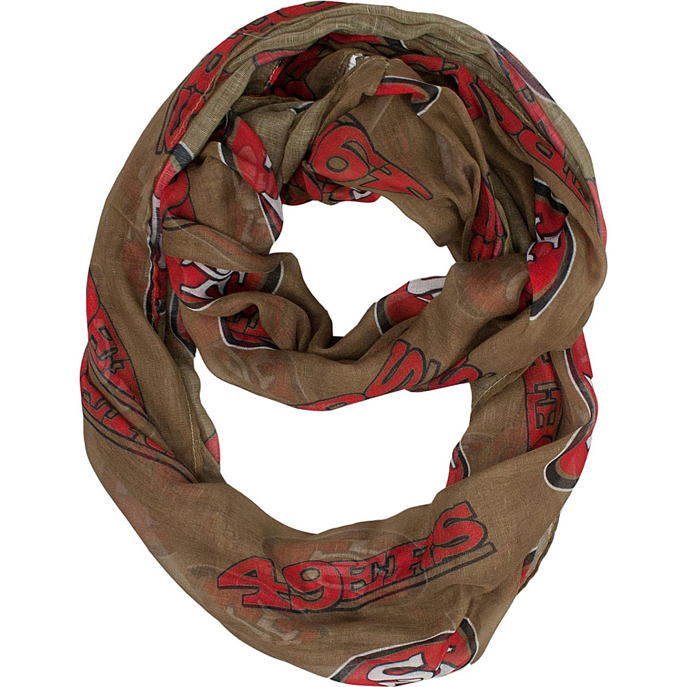 Littlearth Sheer Infinity Scarf Alternate - NFL Teams San Francisco 49ers - Littlearth Hats/Gloves/Scarves - Fashion Accessories, Hats/Gloves/Scarves