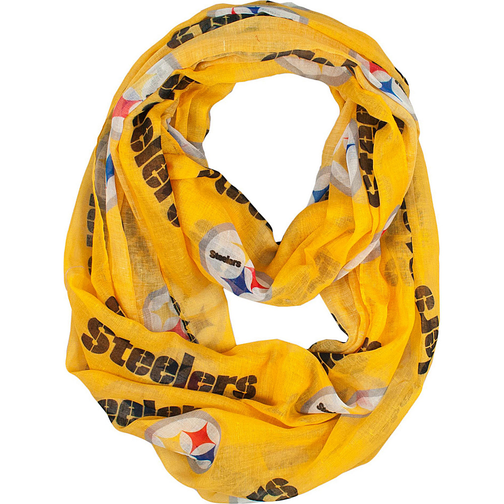 Littlearth Sheer Infinity Scarf Alternate - NFL Teams Pittsburgh Steelers - Littlearth Hats/Gloves/Scarves - Fashion Accessories, Hats/Gloves/Scarves