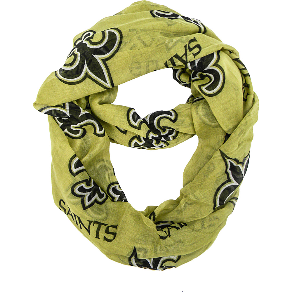 Littlearth Sheer Infinity Scarf Alternate - NFL Teams New Orleans Saints - Littlearth Hats/Gloves/Scarves - Fashion Accessories, Hats/Gloves/Scarves