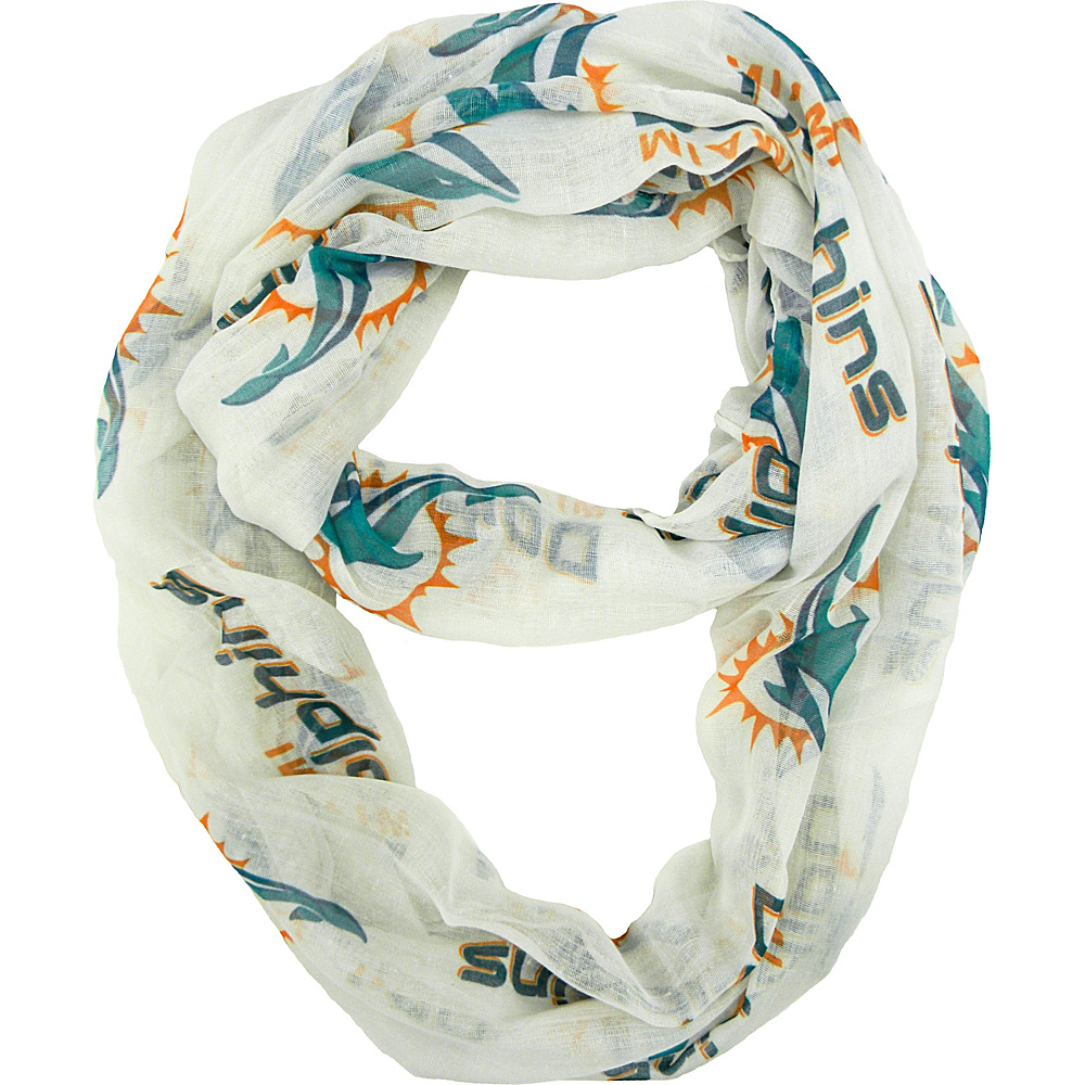 Littlearth Sheer Infinity Scarf Alternate - NFL Teams Miami Dolphins - Littlearth Hats/Gloves/Scarves - Fashion Accessories, Hats/Gloves/Scarves