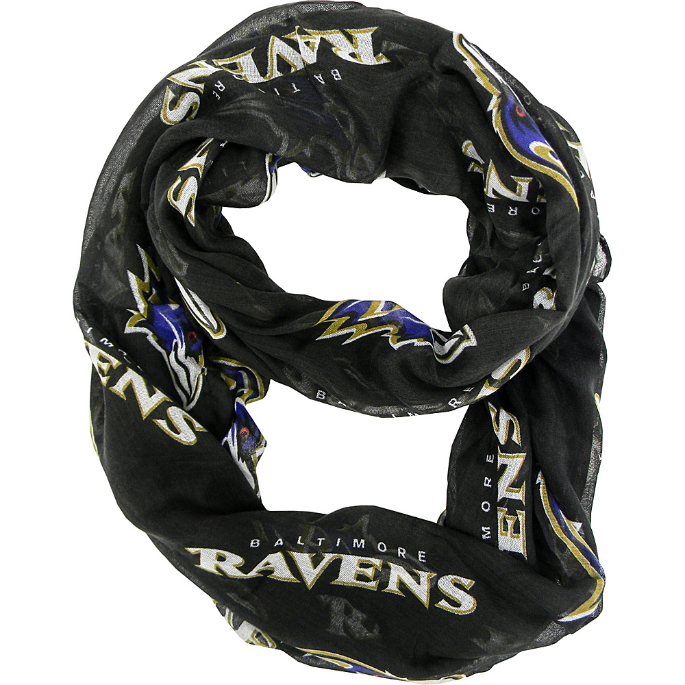 Littlearth Sheer Infinity Scarf Alternate - NFL Teams Baltimore Ravens - Littlearth Hats/Gloves/Scarves - Fashion Accessories, Hats/Gloves/Scarves