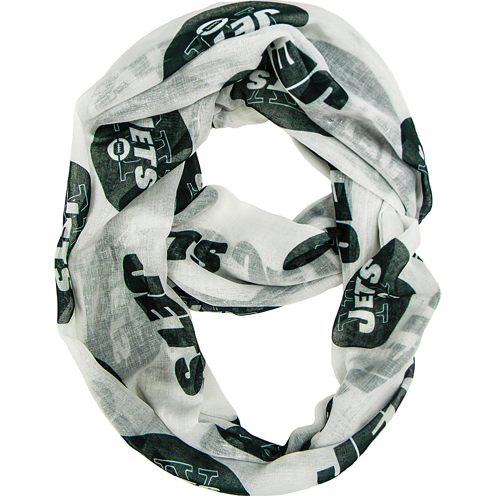 Littlearth Sheer Infinity Scarf Alternate - NFL Teams New York Jets - Littlearth Hats/Gloves/Scarves - Fashion Accessories, Hats/Gloves/Scarves