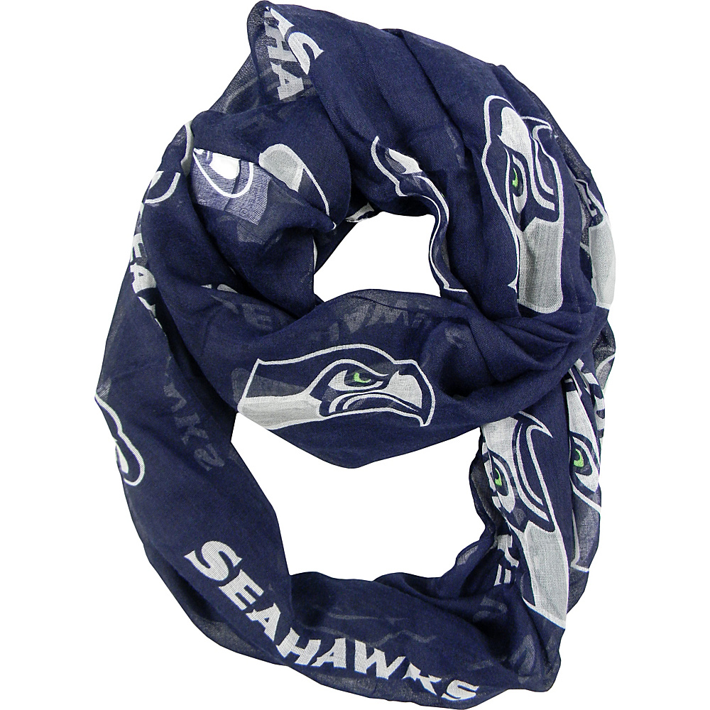 Littlearth Sheer Infinity Scarf Alternate - NFL Teams Seattle Seahawks - Littlearth Hats/Gloves/Scarves - Fashion Accessories, Hats/Gloves/Scarves