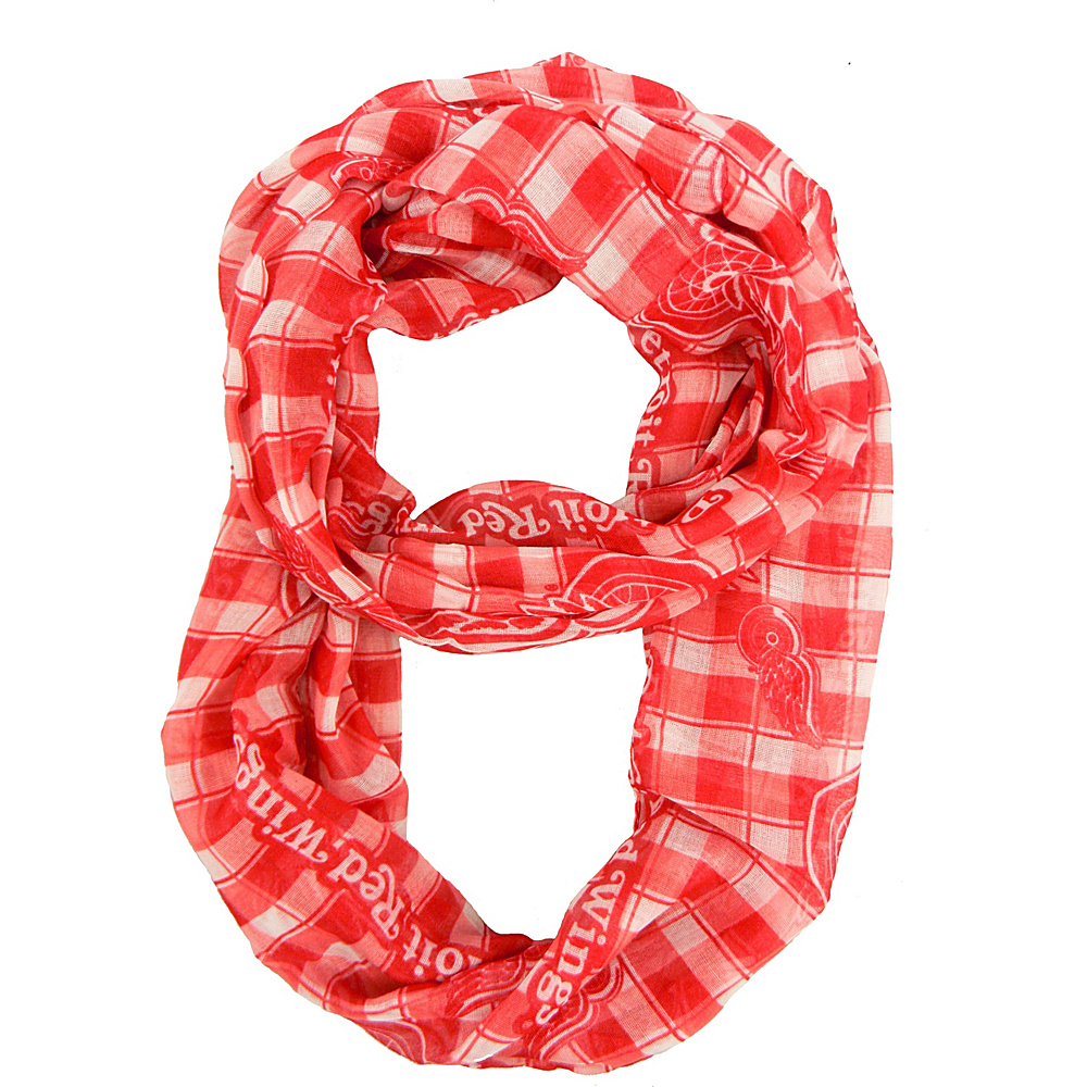 Littlearth Sheer Infinity Scarf Plaid - NHL Teams Detroit Red Wings - Littlearth Hats/Gloves/Scarves - Fashion Accessories, Hats/Gloves/Scarves