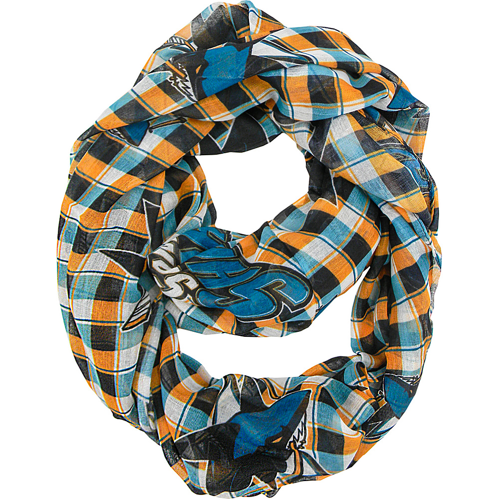 Littlearth Sheer Infinity Scarf Plaid - NHL Teams San Jose Sharks - Littlearth Hats/Gloves/Scarves - Fashion Accessories, Hats/Gloves/Scarves