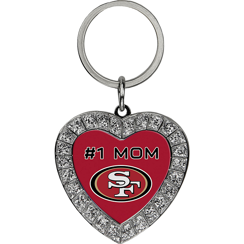 Luggage Spotters NFL San Francisco 49ers #1 Mom Rhinestone Key Chain Red - Luggage Spotters Women's SLG Other
