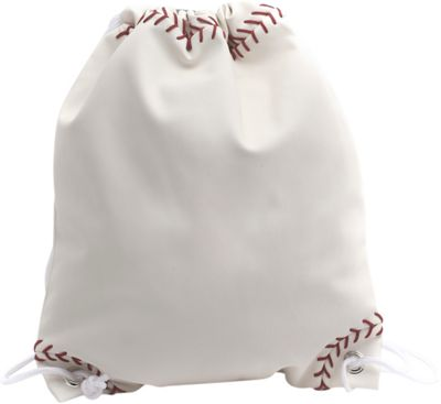 Zumer Baseball Drawstring Bag Baseball white - Zumer Everyday Backpacks