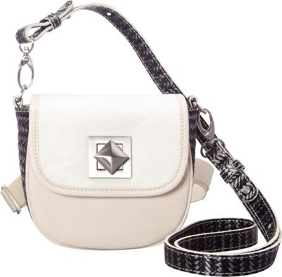 Adrienne Landau Ibiza Hip Hugger Convertible White - Adrienne Landau Leather Handbags
