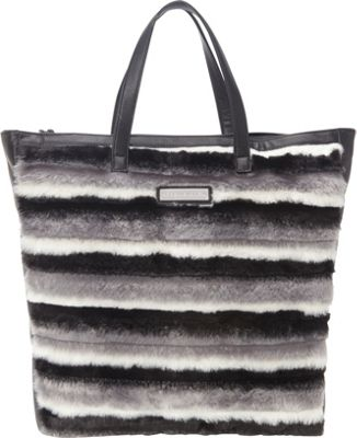 Adrienne Landau Striped Shopper Tote Black Striped - Adrienne Landau Leather Handbags