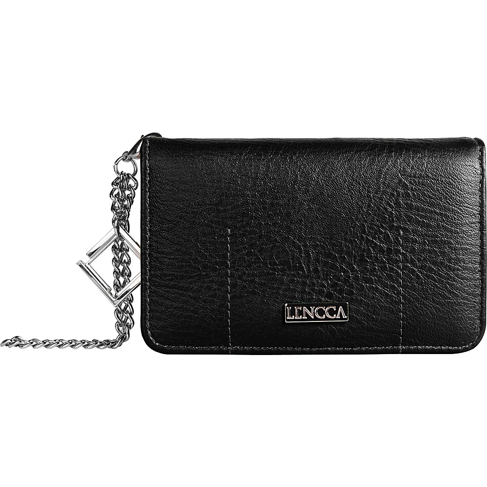 Lencca Kymira II Wallet Organizer Clutch Black Marine Lencca Manmade Handbags