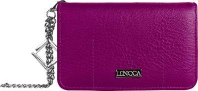 Lencca Kymira II Wallet Organizer Clutch Plum/ Sky Blue - Lencca Manmade Handbags