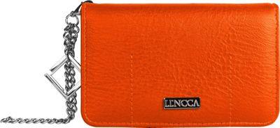 Lencca Kymira II Wallet Organizer Clutch Orange/ Tan - Lencca Manmade Handbags