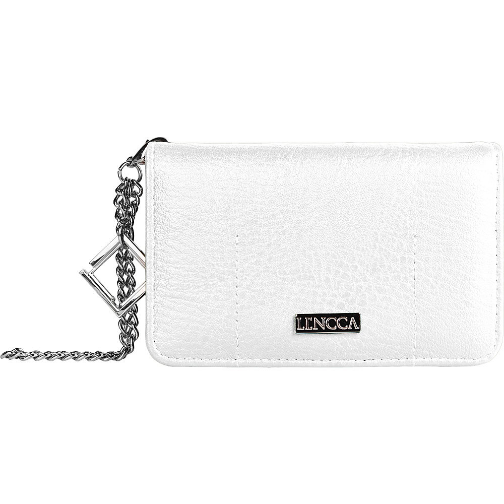 Lencca Kymira II Wallet Organizer Clutch White Orange Lencca Manmade Handbags