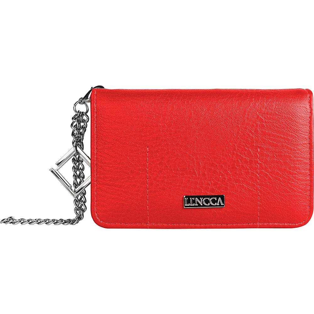 Lencca Kymira II Wallet Organizer Clutch Magenta Plum Lencca Manmade Handbags
