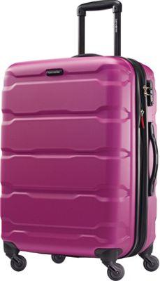 Samsonite Omni PC Hardside Spinner 24 Radiant Pink - Samsonite Hardside Checked