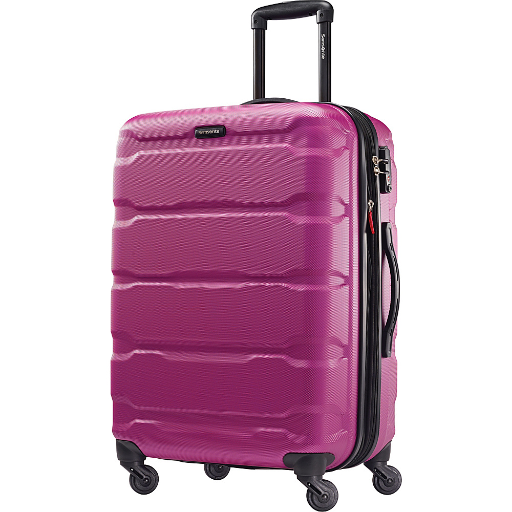 Samsonite Omni PC Hardside Spinner 24 Radiant Pink Samsonite Hardside Checked