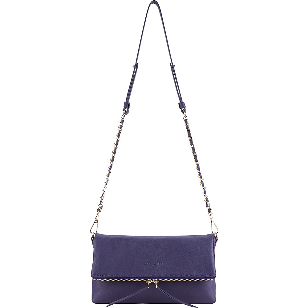 Lancaster Paris Mademoiselle Estelly Foldover Clutch Violet Lancaster Paris Leather Handbags