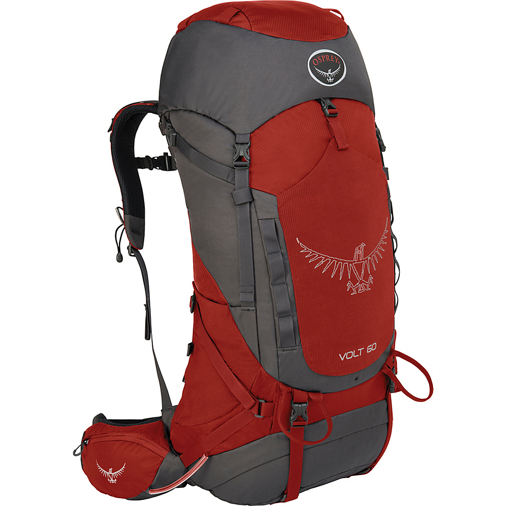 Osprey Volt 60 Hiking Backpack Carmine Red - Osprey Backpacking Packs - Outdoor, Backpacking Packs