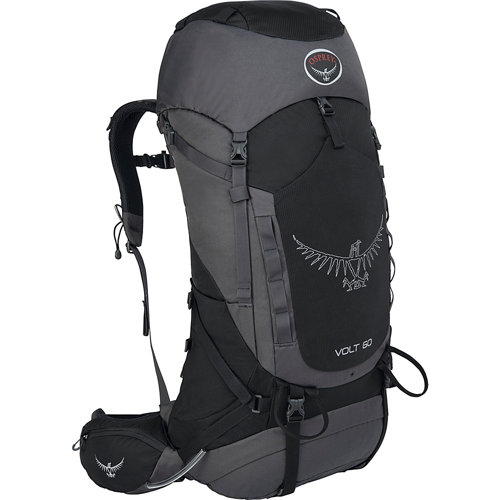 Osprey Volt 60 Hiking Backpack Tar Black - Osprey Backpacking Packs - Outdoor, Backpacking Packs