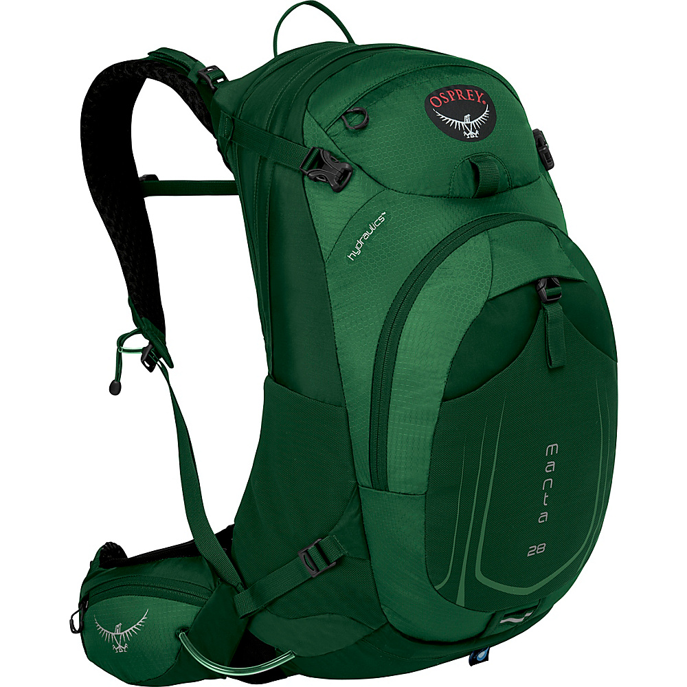 Osprey Manta AG 28 Hiking Pack Spruce Green - S/M - Osprey Day Hiking Backpacks - Outdoor, Day Hiking Backpacks