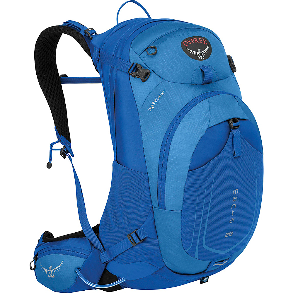Osprey Manta AG 28 Hiking Pack Sonic Blue - S/M - Osprey Day Hiking Backpacks - Outdoor, Day Hiking Backpacks