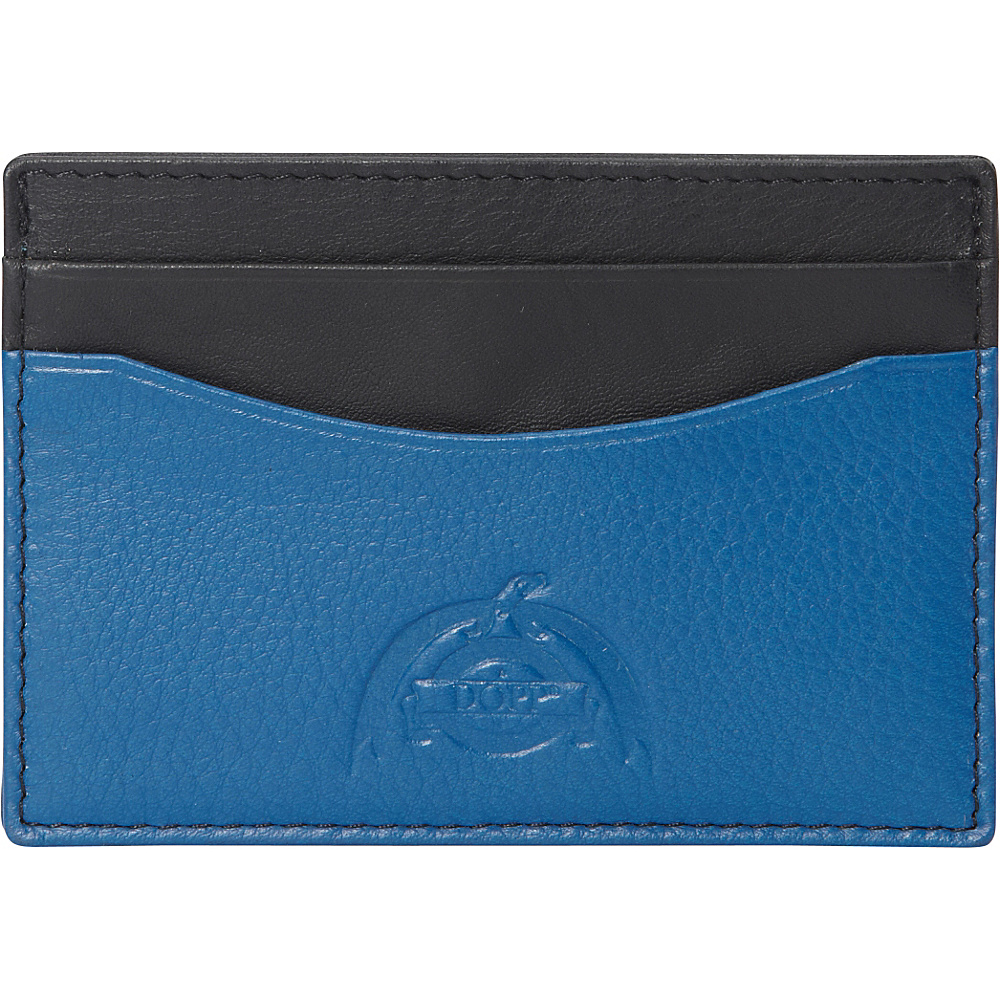 Dopp Tribeca RFID Front Pocket Get Away Black w Blue Dopp Men s Wallets