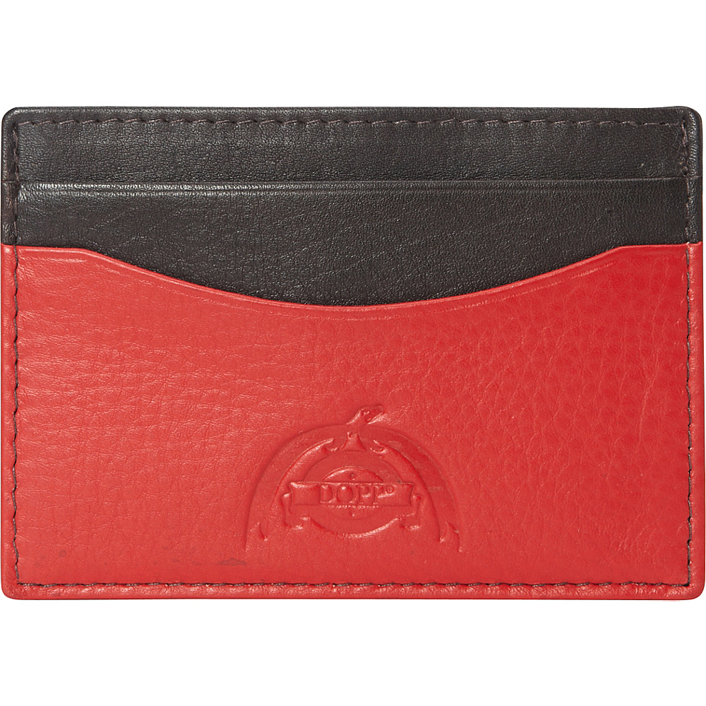 Dopp Tribeca RFID Front Pocket Get Away Espresso w Red Dopp Men s Wallets